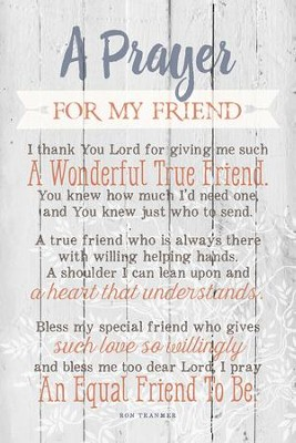 Prayer for my friend wood plaque christianbook prayer for my friend wood plaque thecheapjerseys Gallery