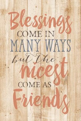 Blessings Come In Many Wood Plaque  -