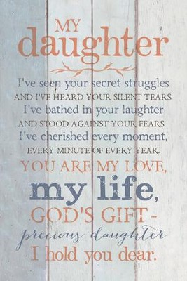 My Daughter Wood Plaque  -