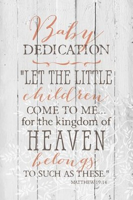 Baby Dedication Wood Plaque  -