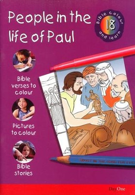 Bible Colour and Learn: 18 People in The Life of Paul  -