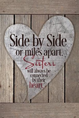 Side By Side Sister Plaque                                  -