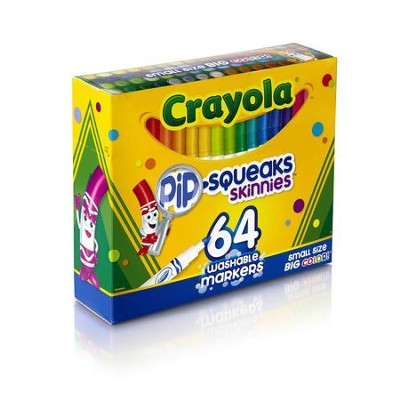 Crayola, Skinny Washable Markers, 64 Pieces  -