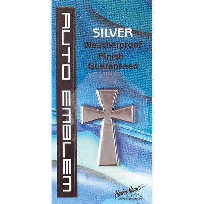 Cross Auto Emblem, Silver, Small  -
