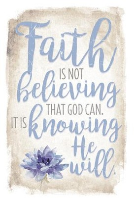 Faith is Not Believing that God Can Plaque  -