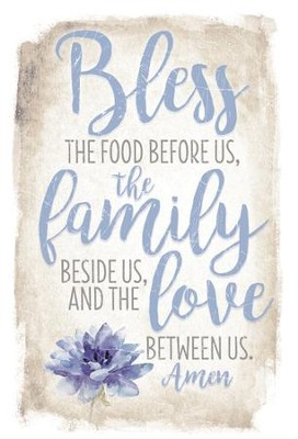 Bless the Food Before Us Plaque  -