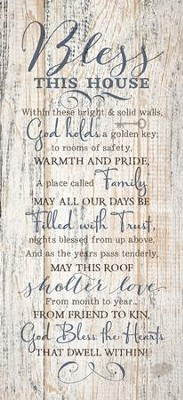Bless This House Wood Plaque  -