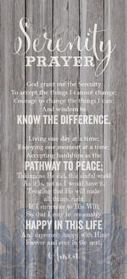 Serenity Prayer Wood Plaque  -