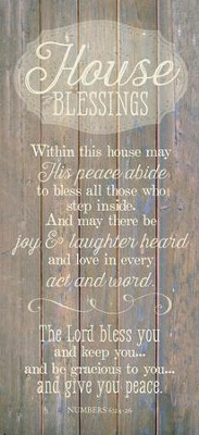 House Blessing Wood Plaque  -