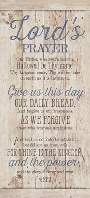 Lord's Prayer Wood Plaque  -