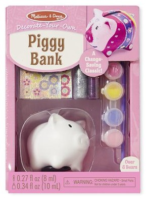 Piggy Bank, Decorate Your Own  -