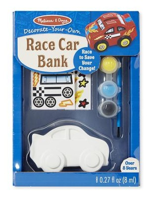 Race Car Bank, Decorate Your Own  -