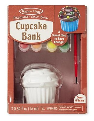 Cupcake Bank, Decorate Your Own  -