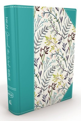 NKJV Journal the Word Bible, Hardcover, Blue Floral Cloth  -