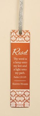 Personalized, Thy Word Aluminum Bookmark, Orange   -