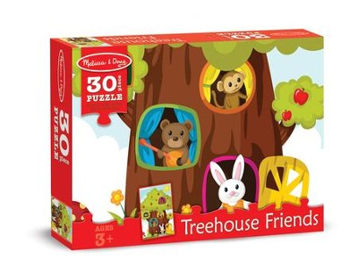 Treehouse Friends Jigsaw Puzzle, 30 Pieces  -