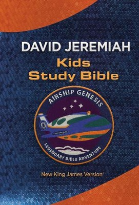 NKJV Airship Genesis Kids Study Bible--imitation leather,  blue/orange  -     By: David Jeremiah