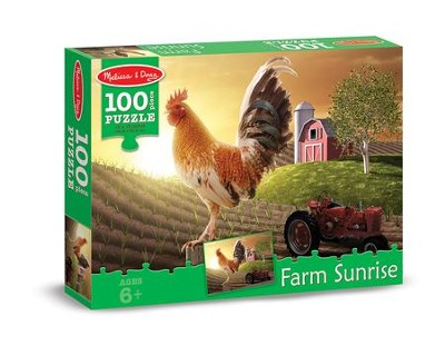 Sunrise Farm Jigsaw Puzzle, 100 Pieces  -
