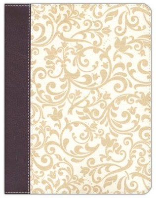 KJV Journal the Word Bible, Imitation Leather, Brown/Cream, Red Letter Edition  -