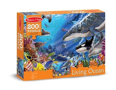 Living Ocean Jigsaw Puzzle, 200 Pieces  -