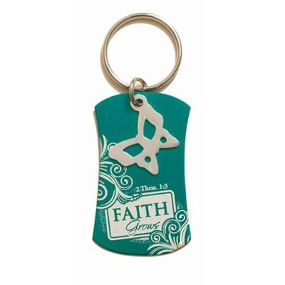 Faith Grows Keyring  -