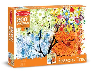 Seasons Tree Jigsaw Puzzle, 200 Pieces  -