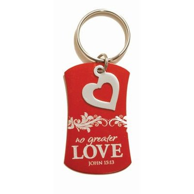 No Greater Love Keyring  -