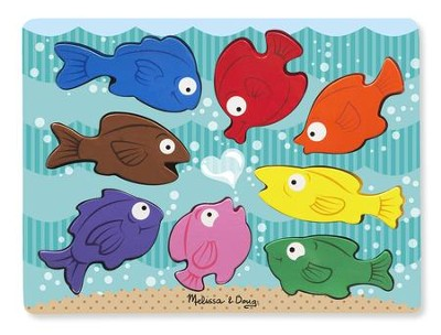 Colorful Fish Chunky Puzzle, 20 pieces  -