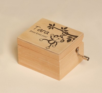 Personalized, Jesus Loves You Music Box How Great Thou Art  -