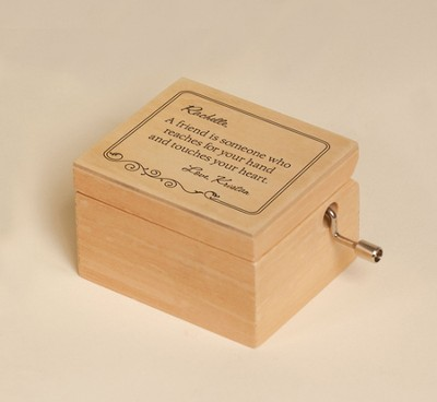 Personalized, Friend Music Box, How Great Thou Art   -