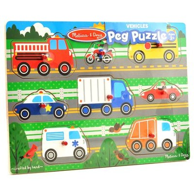 Vehicles Peg Puzzle, 8 Pieces  -