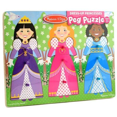 Dress-Up Princesses Peg Puzzle, 9 Pieces  -