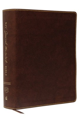 KJV Journal the Word Bible, Large Print, Bonded Leather Brown, Red Letter Edition  -