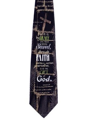 Saved Through Faith Silk Tie, Ephesians 2:8  -