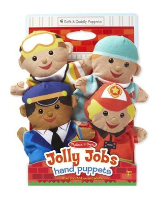 Jolly Jobs Hand Puppets, set of 4   -
