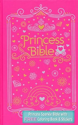 ICB Princess Bible with Coloring Sticker Book, Hardcover  -