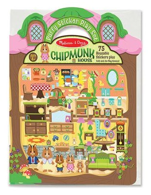 Chipmunk House Puffy Stickers Play Set  -