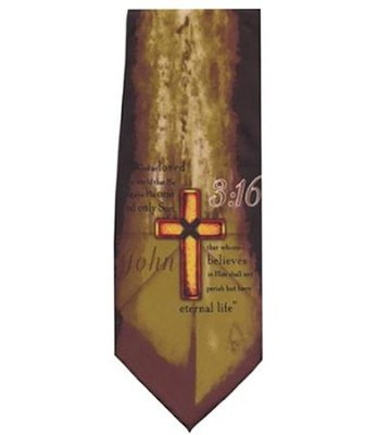 John 3:16, Polyester Tie, Boxed  -