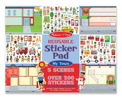 My Town, Reusable Sticker Pad  -