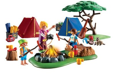 PlayMobil Camp Site with LED Fire  -