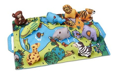 Take-Along Play Mat, Safari, 10 pieces  -