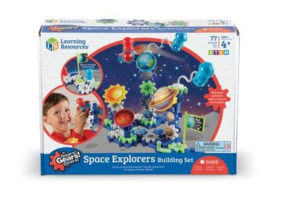 Gears! Gears! Gears! Space Explorers Building Set, 77 Pieces  -