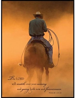 The Lord will Watch Over Your Coming and Going Mounted Print, Small  -     By: Robert Dawson