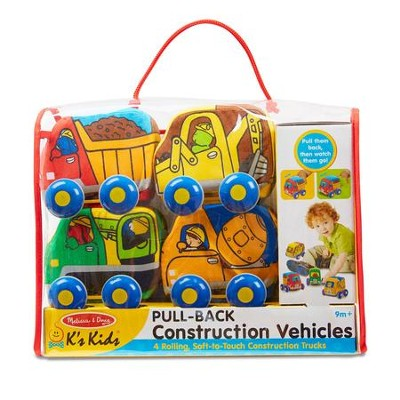 Pull-Back Construction Vehicles, 4 pieces  -