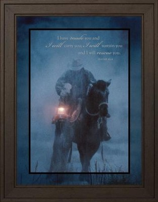 Hero in the Storm Framed Print  -     By: David Stoecklein