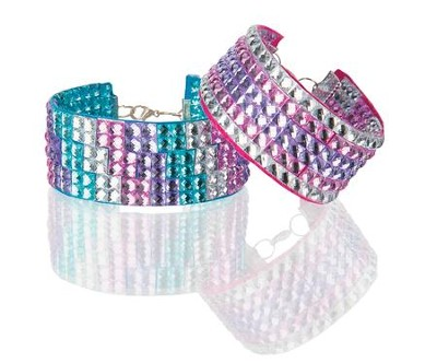 Press On Rhinestones, Bracelet Set  -