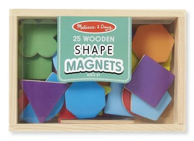 Magnetic Wooden Shapes and Colors  -