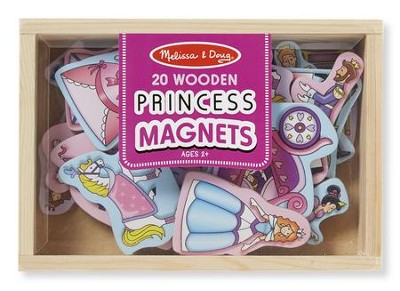Wooden Princess Magnets  -