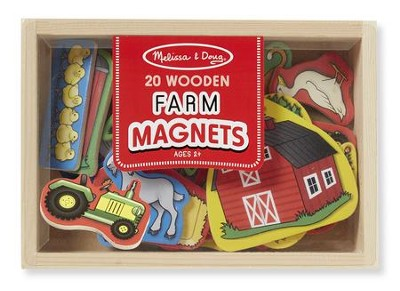 Wooden Farm Magnets  -