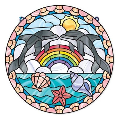 Dolphins, Stained Glass Kit  -
